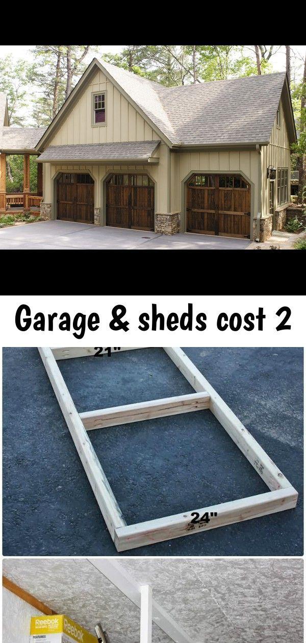 Garage Sheds Cost 2 Shed Cost Wooden Garage Wooden Garage Doors