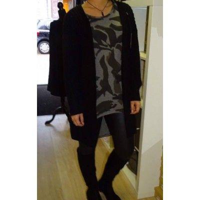 Vest grof gebreid one size zwart €24.95