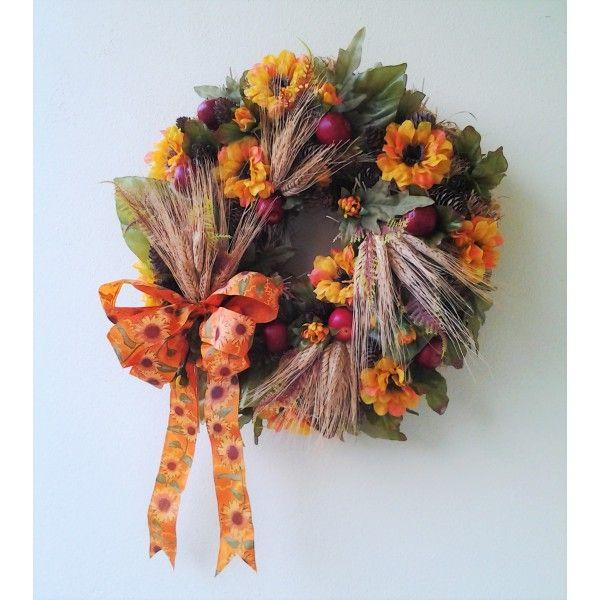 pestrý jesenný veniec 40 cm