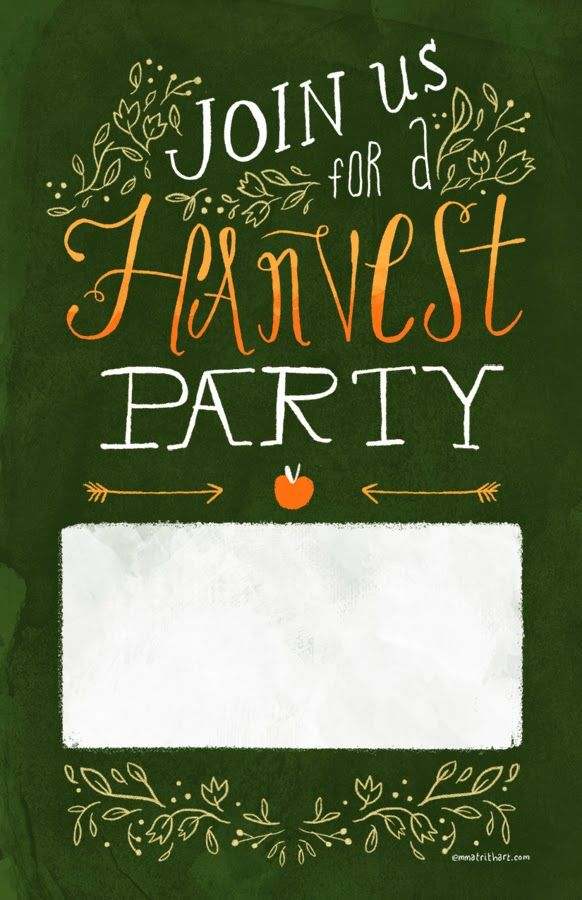 harvest party invite template | emma trithart
