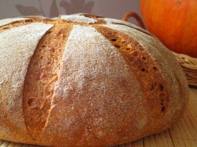 Тыквенный хлеб на ржаной закваске