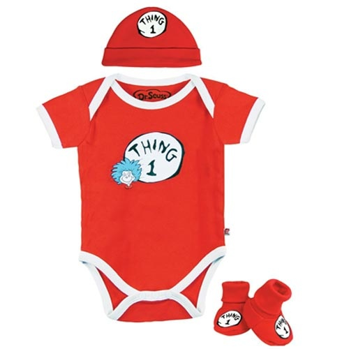 The Retro Baby Store Dr Seuss Thing 1 Layette Set $14