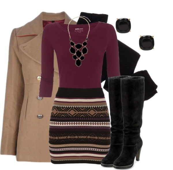 """""""Sweater Skirt"""" by qtpiekelso on Polyvore"""