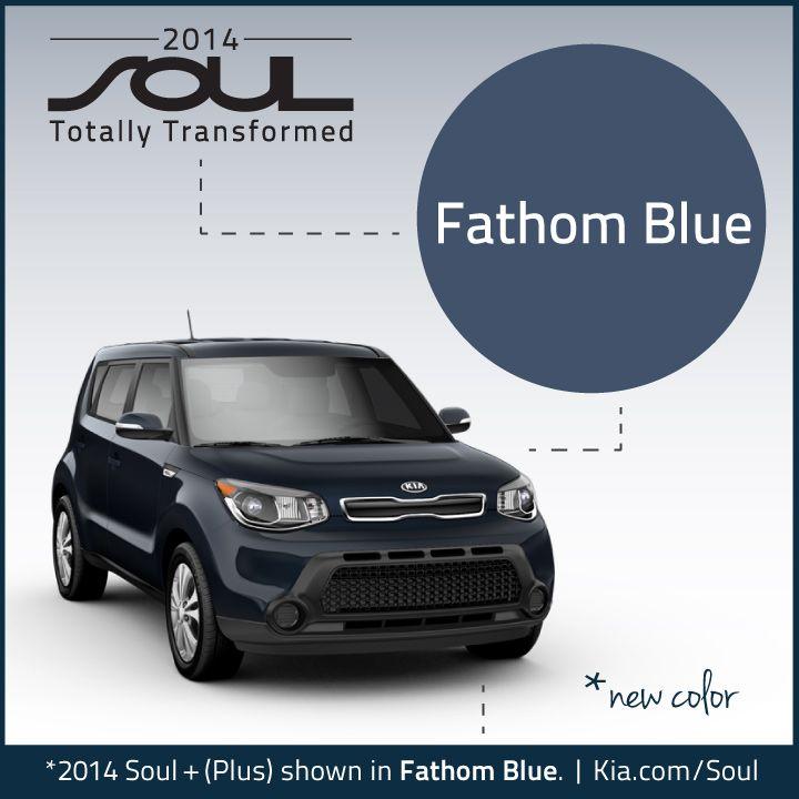 2014 Kia Soul. New Color. Fathom Blue.