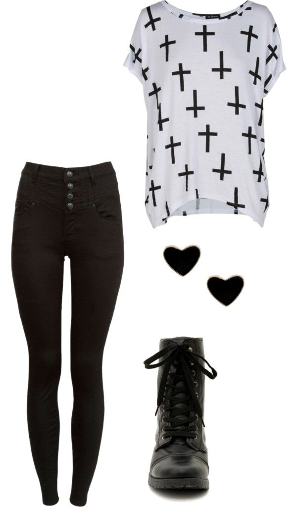 a wonderful punk emo outfit even though im not one of them but i still love it