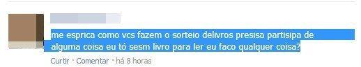 Alguém dê livros a esta pessoa, por favor.   22 erros de português tão elaborados que era mais fácil ter escrito certo