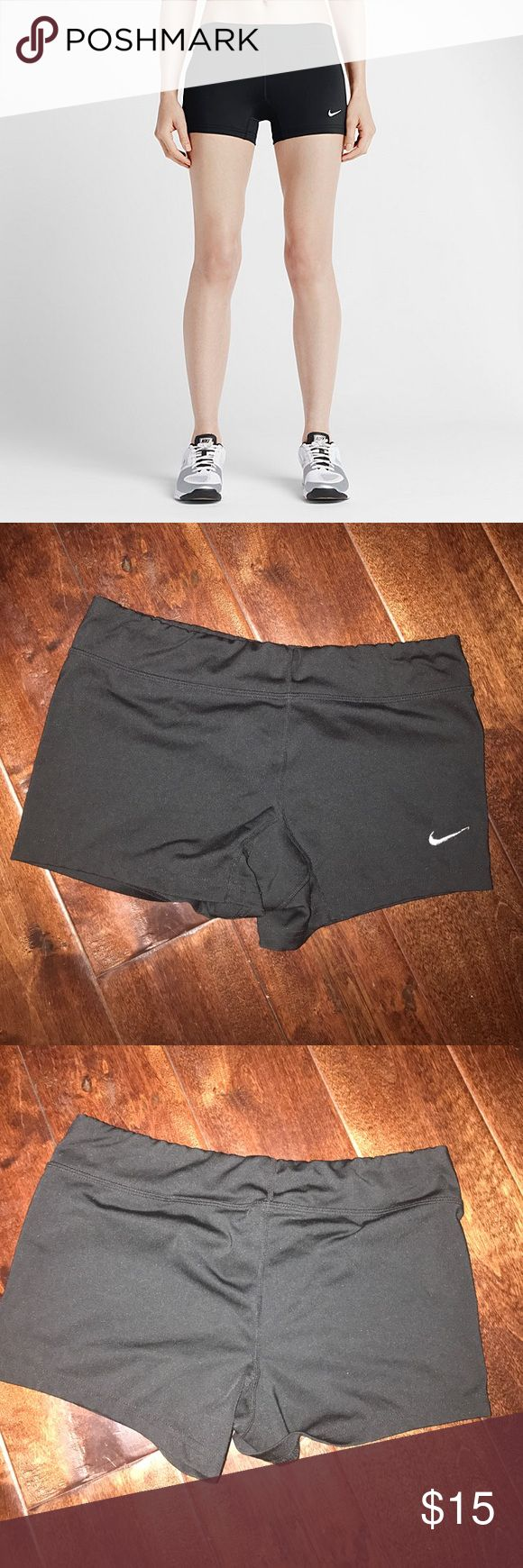 Nike Dri-Fit Black Spandex Shorts Have used these shorts a couple of times. Very comfortable to wear and really cute! Nike Shorts