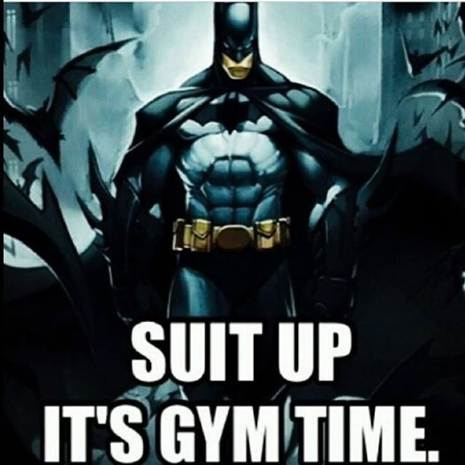 It's gym time!! BOOM!! #batman #gymmeme #gym #fitness # ...