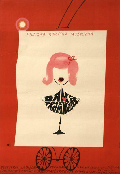 Lady on the Tracks Dama z tramwaju Flisak Jerzy Polish Poster