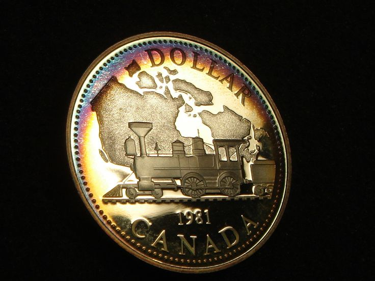 1981 Proof Canada Silver Dollar Locomotive Railroad Rainbow Toning  Price : $24.99  Ends on : 4 weeks Order Now