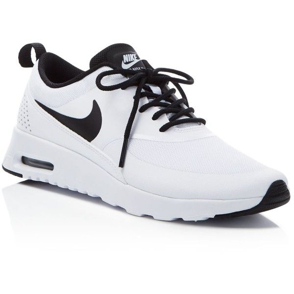 Nike Air Max Thea Joli Lace Up Sneakers ($90) ❤ liked on Polyvore featuring shoes, sneakers, low cut shoes, laced sneakers, lace up shoes, nike footwear and laced shoes