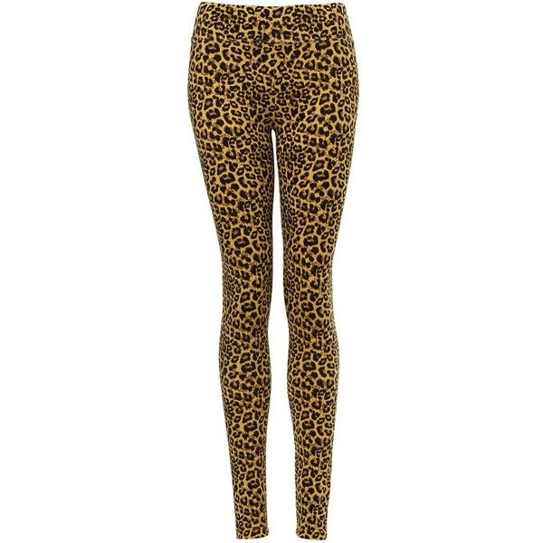 LEOPARD LEGGING (705 INR) ❤ liked on Polyvore featuring pants, leggings, legging pants, brown leggings, brown trousers, leopard print pants and pull on pants