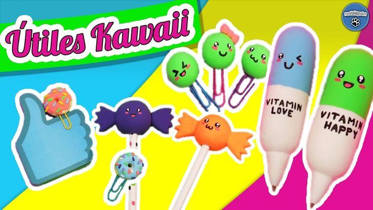 DIY  ¡Decora tus Útiles Escolares de Forma Kawaii!   Fácil   PumitaNegraArt