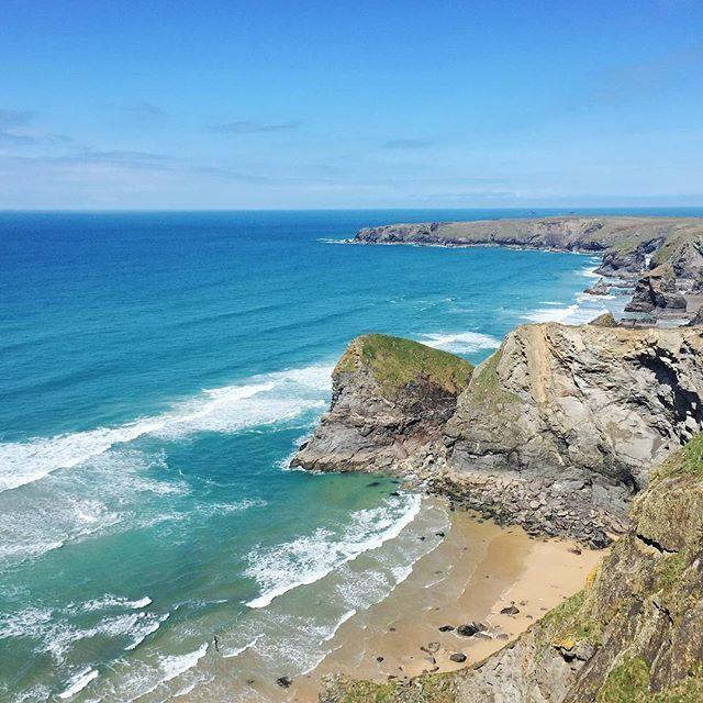Bedruthan Steps, Cornwall.