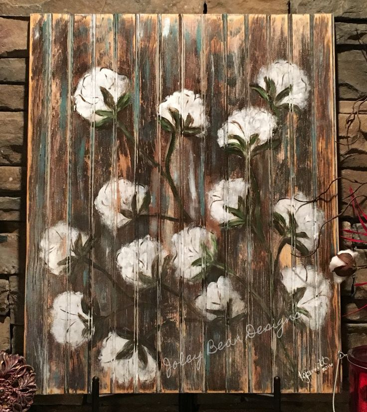 Joley Bean Designs, cotton on wood, Louisiana art