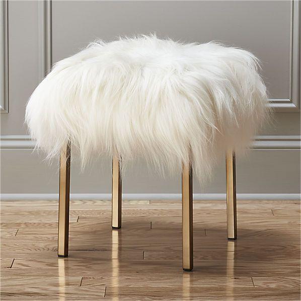 sheepskin stool    CB2