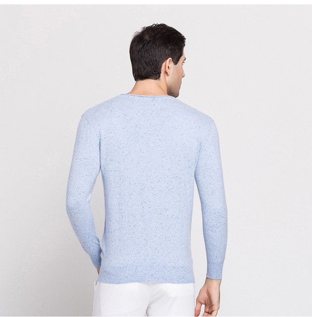 2017 spring and summer autumn and winter sweater thin section sweater men's V-neck sweater Slim sweater men's long-sleeved T-shi