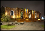 There are the ruins of a church Santiago Apostol or Cartago's ruins, at Cartago Costa Rica. This construction was interrupted by an earthquake in 1910.