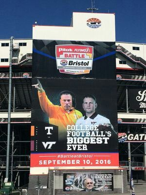 Battle at Bristol, Tennessee Volunteers vs Virginia Tech