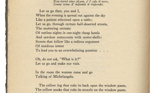 Required Reading: The Lovesong of J. Alfred Prufrock by T ...