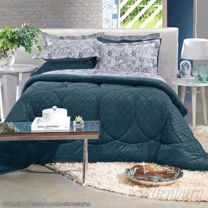 Edredom Blend Elegance Basílico - Casal - Bem Dormir | Bem Viver