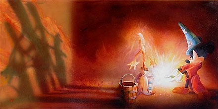Fantasia - Fantasia Mickey - John Rowe - World-Wide-Art.com - $550.00 #Disney #JohnRowe