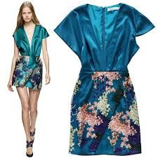 Image result for asymmetrical  print dress