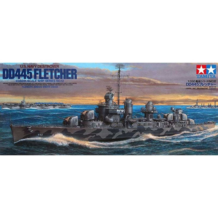 (41.90$)  Know more  - OHS Tamiya 78012 1/350 US Navy Destroyer DD445 Fletcher Assembly Scale Military Ship Model Building Kits