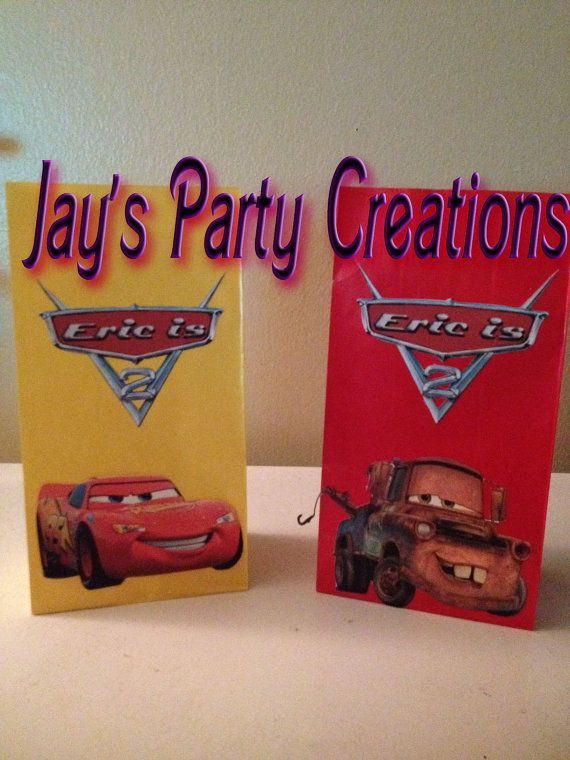Disney Cars Favor Goody Bags