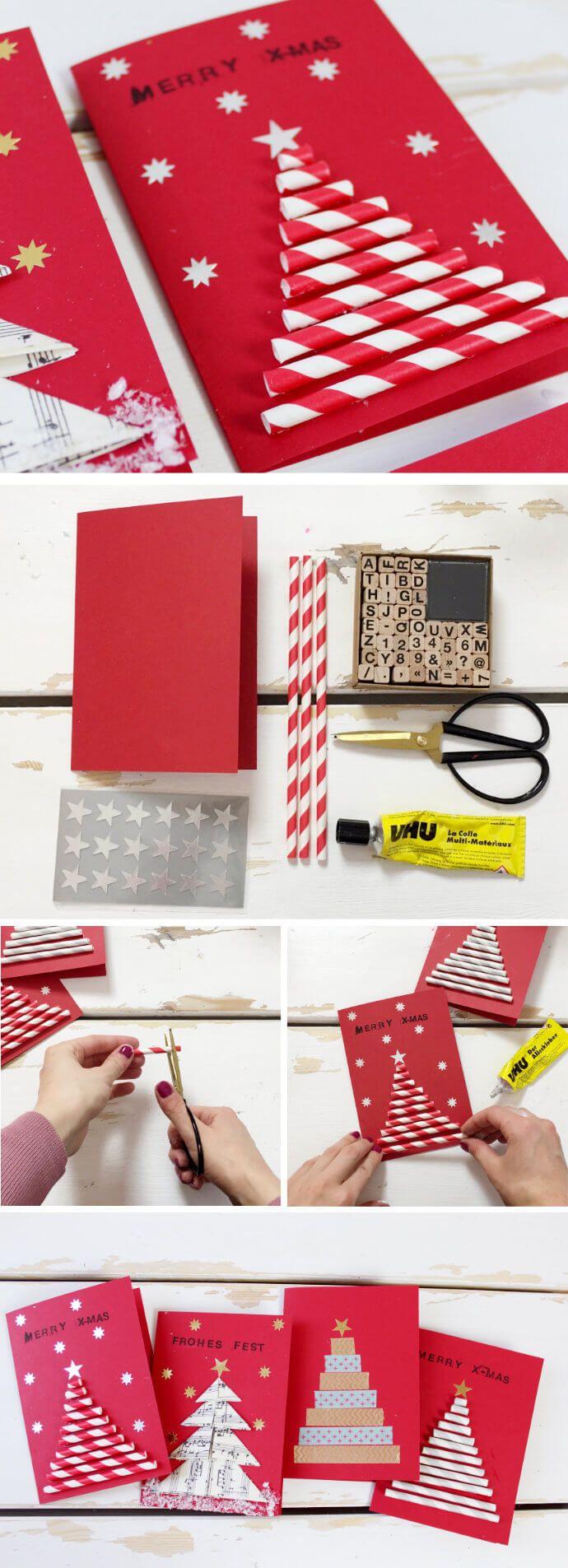 die besten 25 ideen zu weihnachtskarten selber machen auf. Black Bedroom Furniture Sets. Home Design Ideas