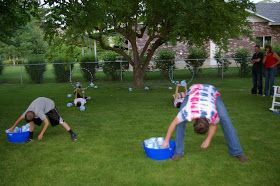 Party games: LEFT FOOT - RIGHT FOOT: 4th of July Part #5 - Minute to Win it