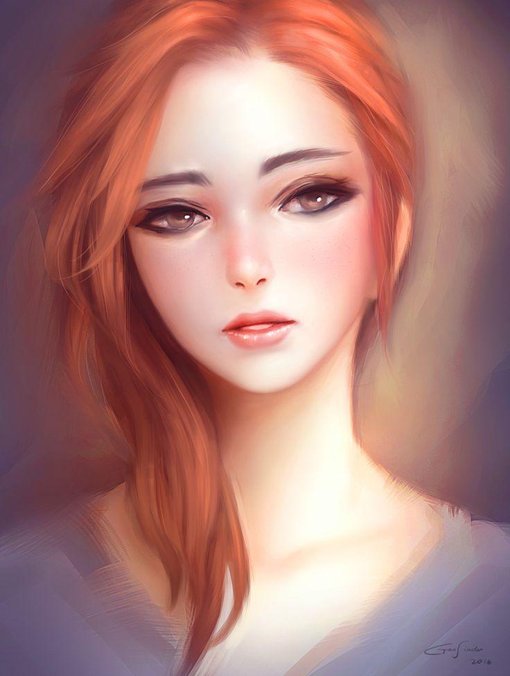Girl Portrait, Geo Siador on ArtStation at https://www.artstation.com/artwork/0oNJY