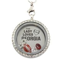 This Lady Loves Georgia Football Necklace