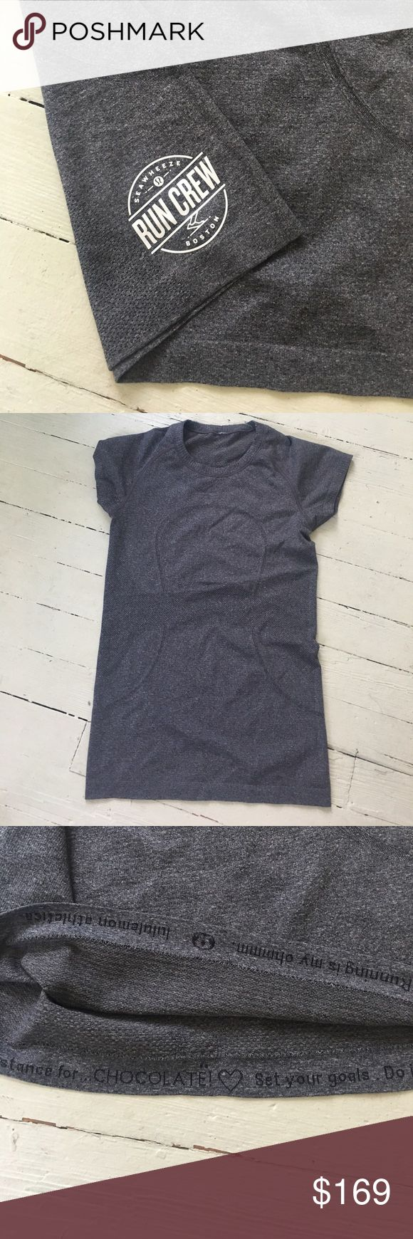 RARE limited edition Lululemon swiftly size 6 SUPER RARE from seawheeze run club in Boston - worn once in like new condition lululemon athletica Tops Tees - Short Sleeve
