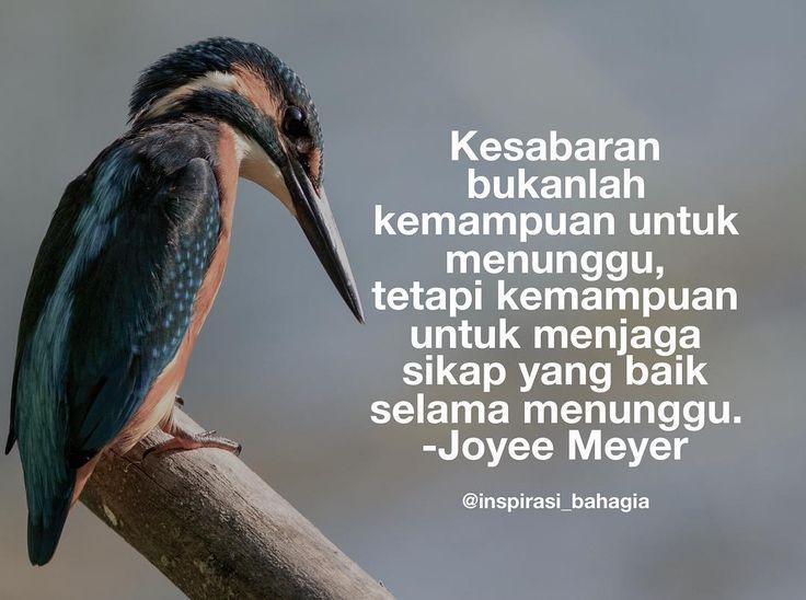 Kesabaran bukanlah kemampuan untuk menunggu tetapi kemampuan untuk menjaga sikap yang baik selama menunggu. -Joyee Meyer