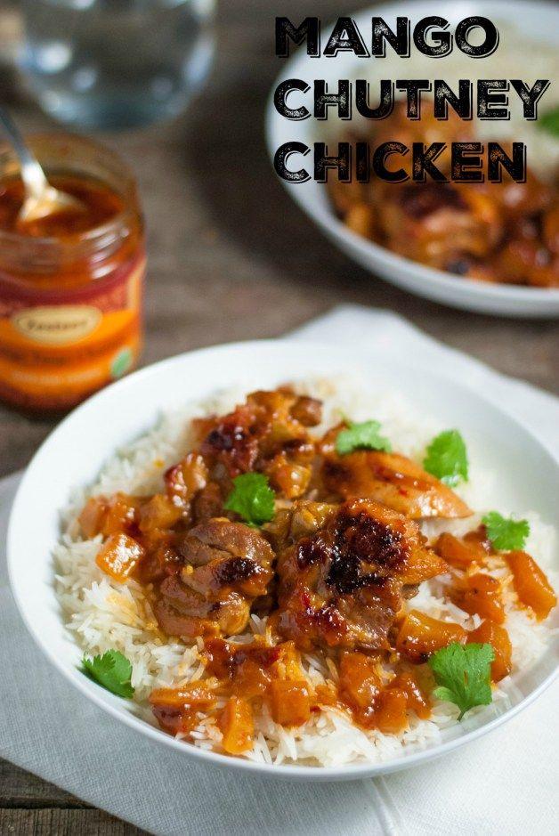 Mango Tango Mango Chutney Chicken | Two Ingredient Mango Chutney Chicken. Quick, easy, delicious. | www.whitbitskitchen.com | #ad @zesteezllc #SavorEveryFlavor