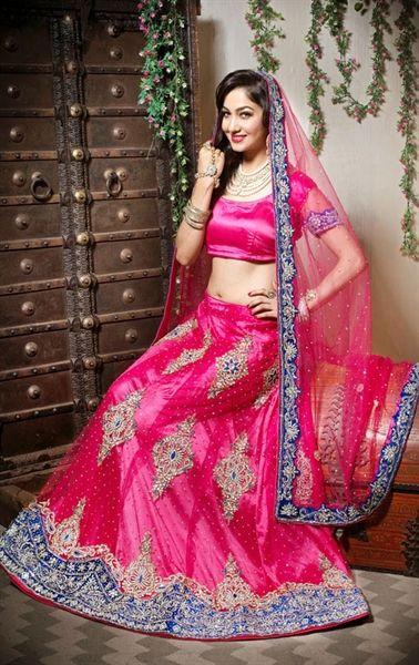 Picture of Flamboyant Fuchsia Color Designer Lehenga Choli