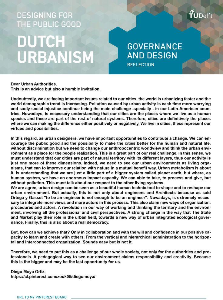 Week 8, an advice for urban authorities...