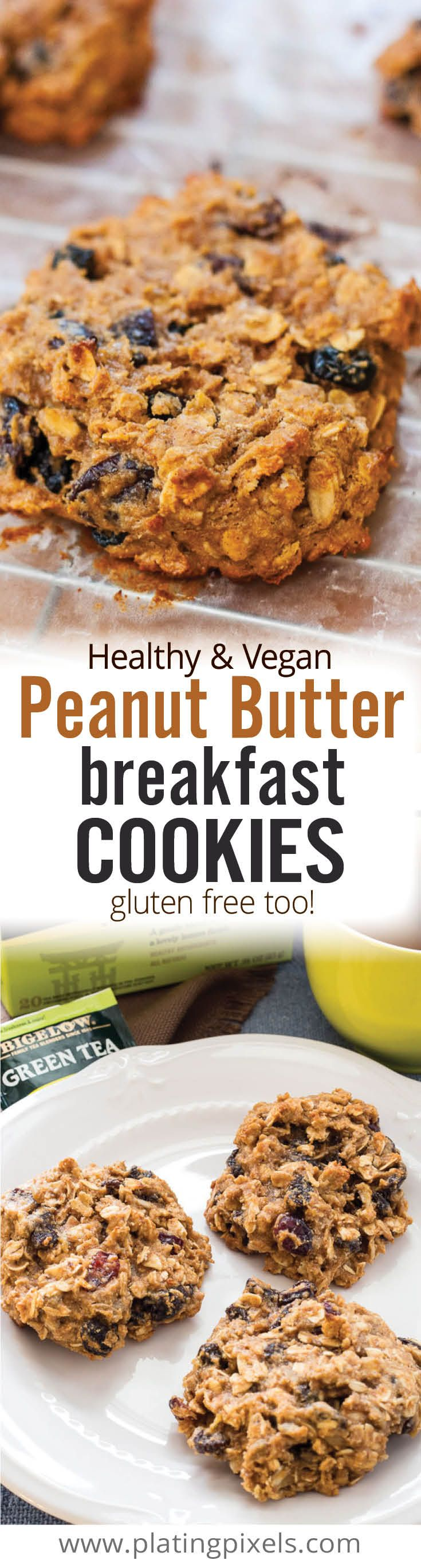 peanut butter breakfast cookies peanut butter breakfast vegan peanut ...
