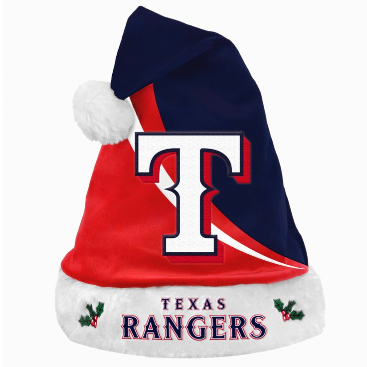 Forever Collectibles MLB Texas Rangers Swoop Santa Hat