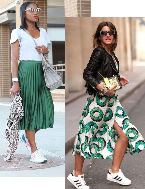 Look para a Copa  look com saia midi verde. Ideias de como usar ... d0669aae99875