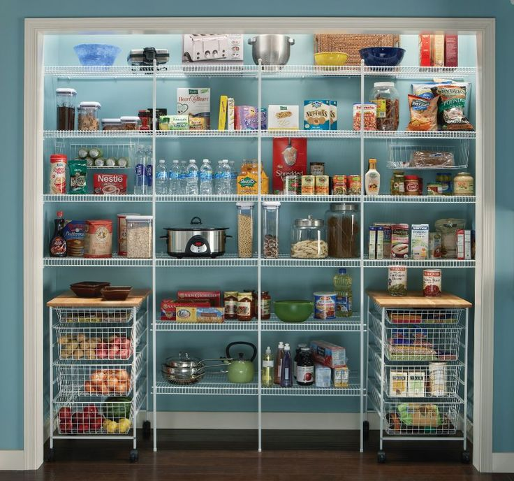 customize your pantry storage with wire drawer baskets and close mesh wire shelving from closetmaid