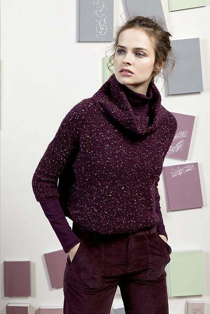 054db1369e92 Lang Ario Funnel-Neck Sweater Knitting Pattern PDF