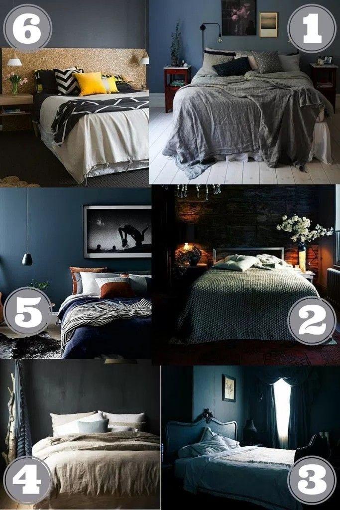 25 beste ideen over Donkere slaapkamer muren op