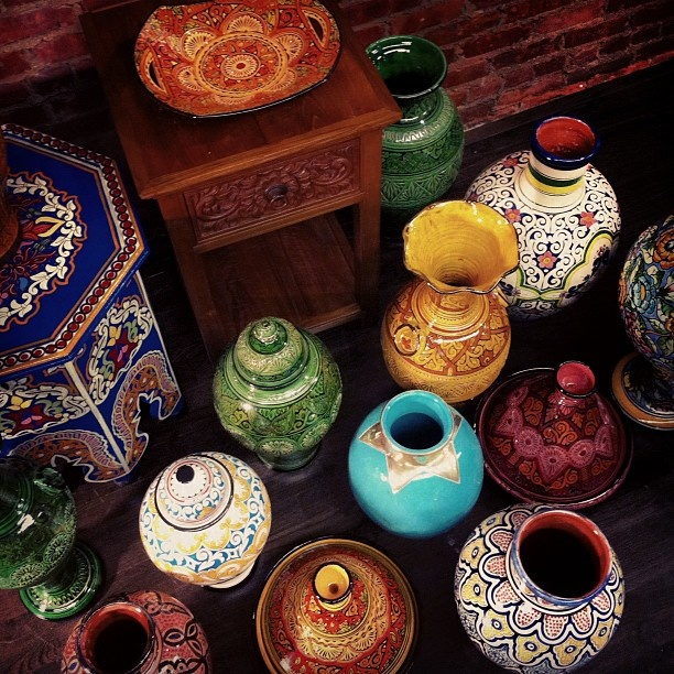 Middle Eastern handcrafted vases for pattern pops around the house