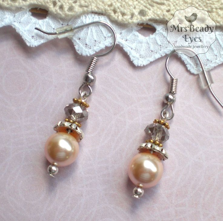 Pearl bridal earrings Romantic pearl earrings Victorian pearl earrings Vintage bridal earrings Edwardian earrings Rose pearl earrings by MrsBeadyEyes on Etsy