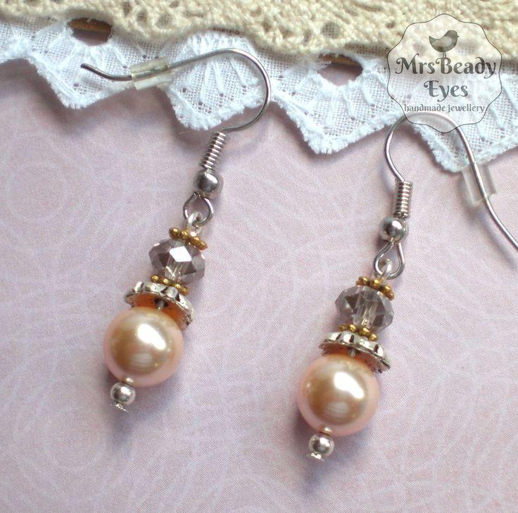 Pearl bridal earrings Romantic pearl earrings Victorian pearl earrings Vintage bridal earrings Edwardian earrings Rose pearl earrings by MrsBeadyEyes on Etsy