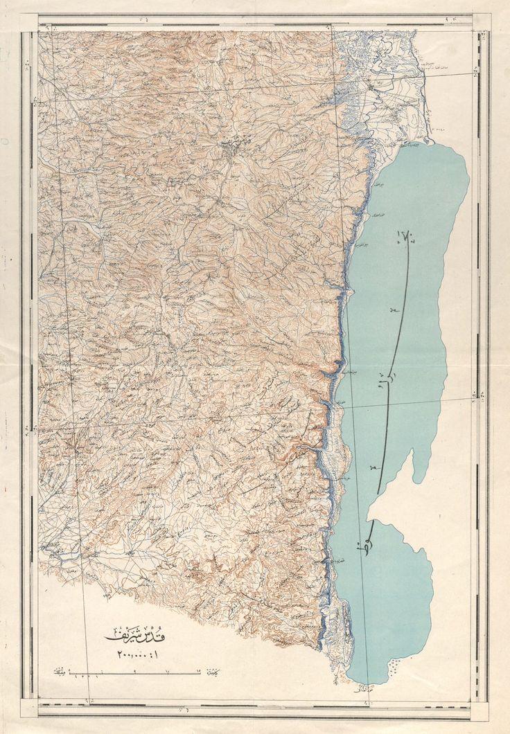 Osmanlı Filistini Haritası