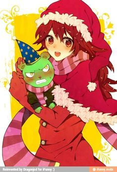 flaky red