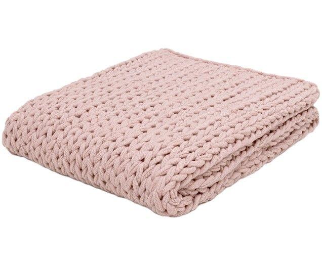 Plaid Lavorato A Maglia Knit In 2020 Stricken Rosa Decke Und